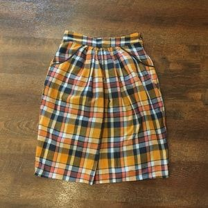 Plaid fall skirt
